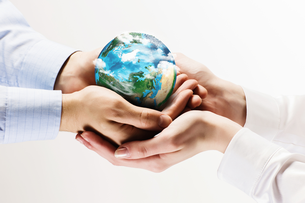 Lets save our planet earth. Ecology concept. Elements of this image are furnished by NASA
